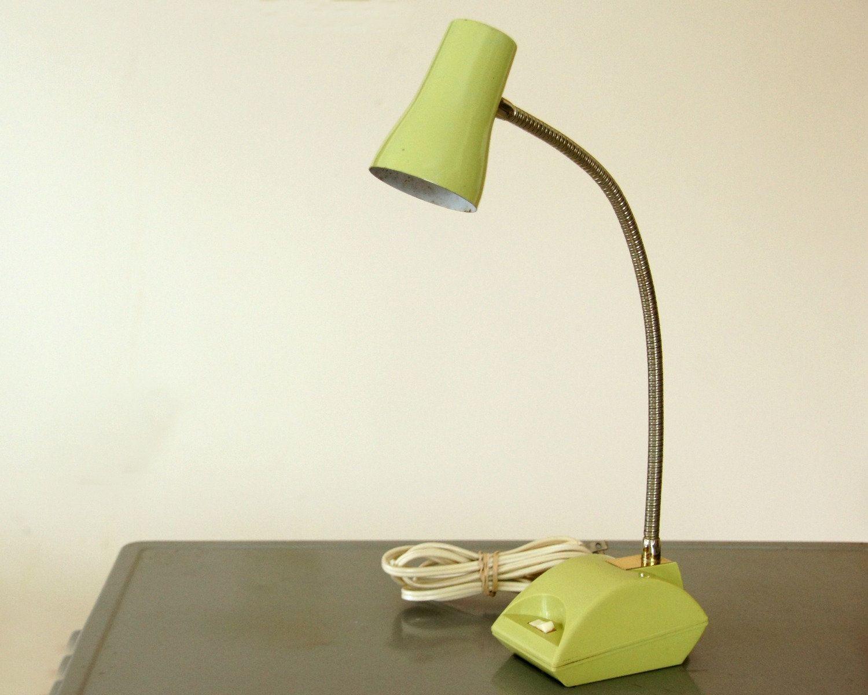 Vintage Desk Lamp Green Task Lamp Gooseneck Light 1970s Office Decor Imarflex Lamp Dorm Lighting Sage Green By Sentimen Desk Lamp Task Lamps Vintage Desk