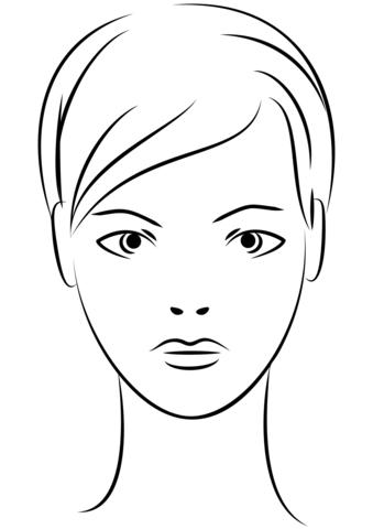 Cara De Mujer Joven Dibujo Para Colorear Rostros Para Colorear Rostro Femenino Gaficos De La Cara