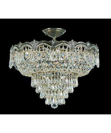 Majestic 21 Inch 5 Light Semi Flush Mount By Crystorama Ceiling Lights Chandelier Crystals