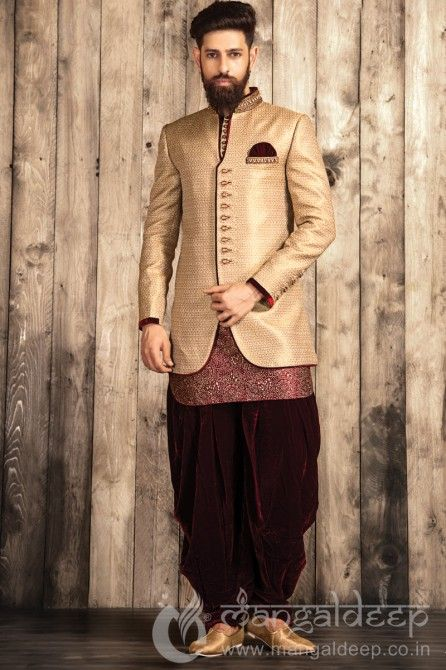 Maroon Silk Designer Mens Wear Patiala Suit. For more information  - Call  us  +919377222211 (Whatsapp Available) b863ec5adc9