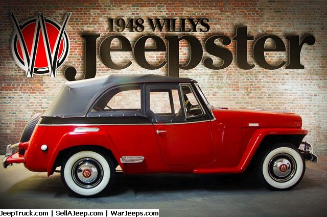 Rare 48 Vj 2 Jeepster 2 Door Phaeton By Willys Overland Red
