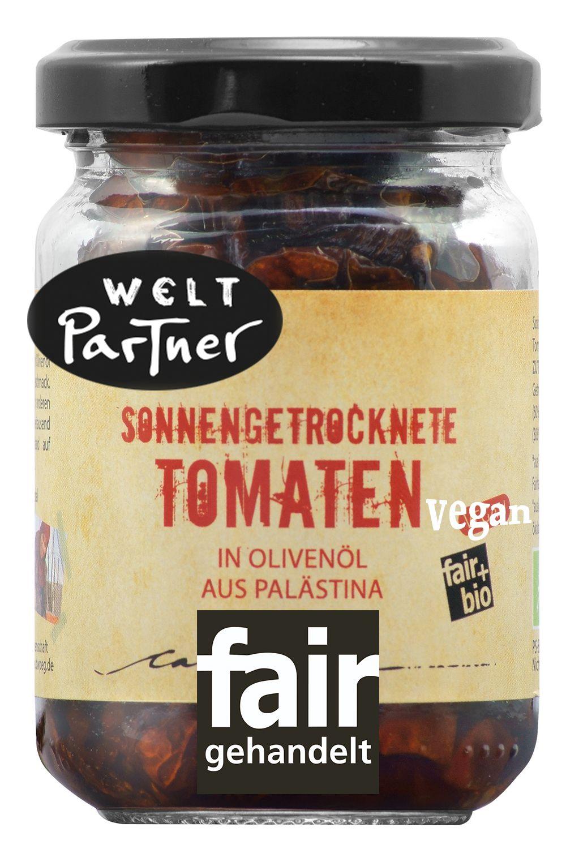Getrocknete Tomaten mit Olivenöl fair gehandelt und bio. Koche mit den eingel…