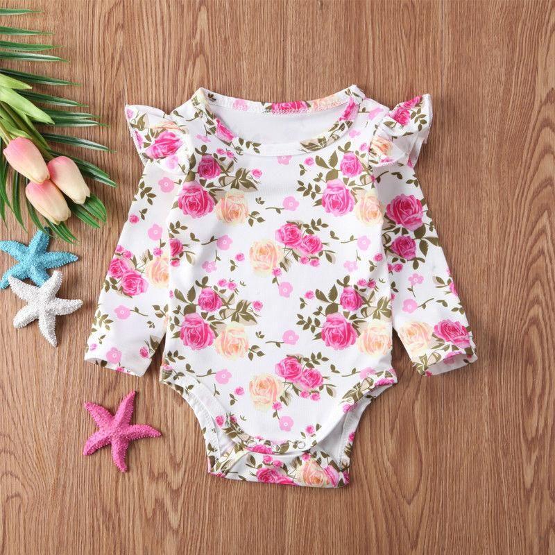 ebcf393cf899 Long Sleeve Pink Floral Onesie