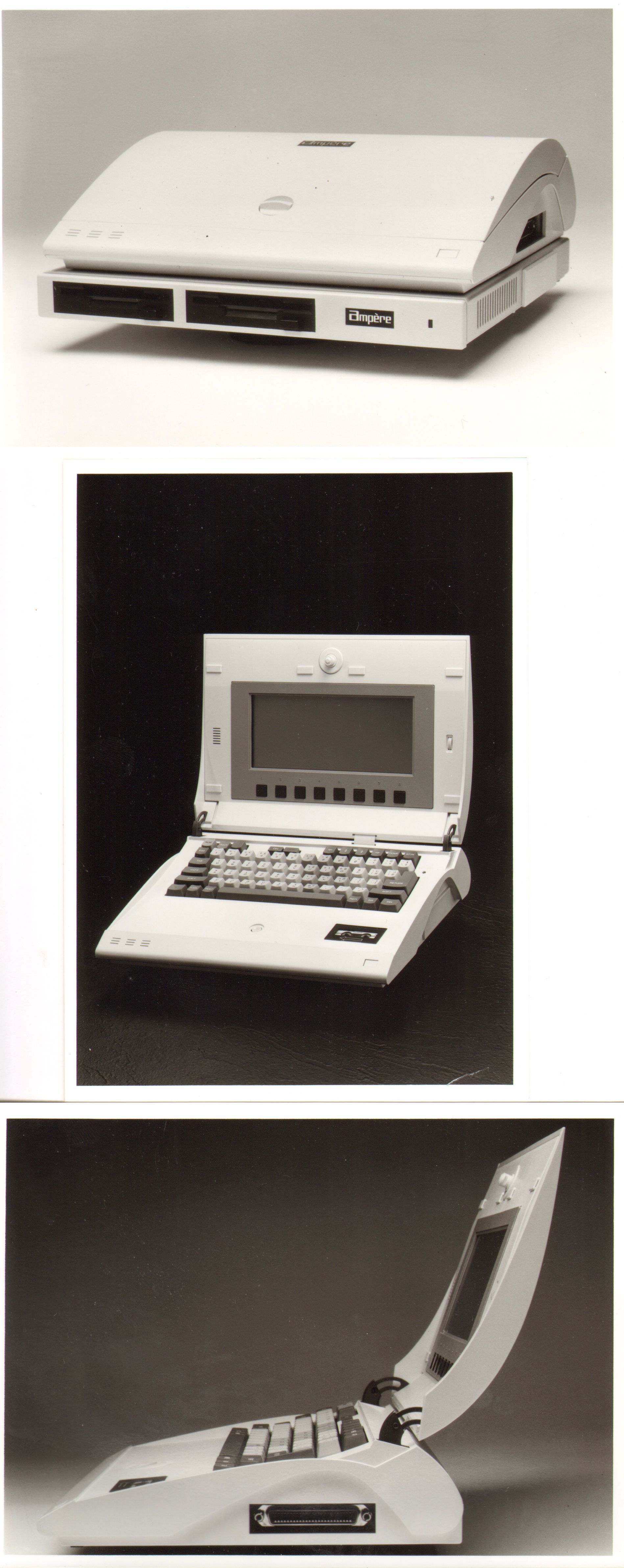 Ampere's WS-1 laptop was an oddball, but a cute oddball. When closed, its clamshell design resembled the wing of an airplane. Its case was designed by Kumeo Tamura, who also designed the Datsun 280...