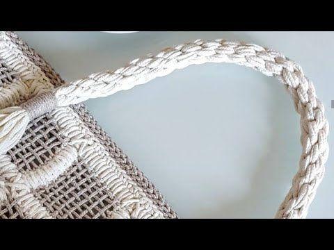 Pamuk Makrome ile çanta sapı yapımı/7
