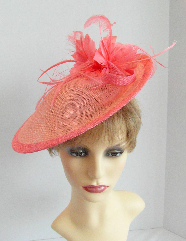 7dd1be583e8b6 Greg Bourdy Pink And Orange Wedding Hats