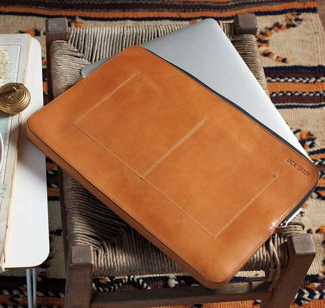 Jack Spade Mitchell Laptop Leather Sleeve