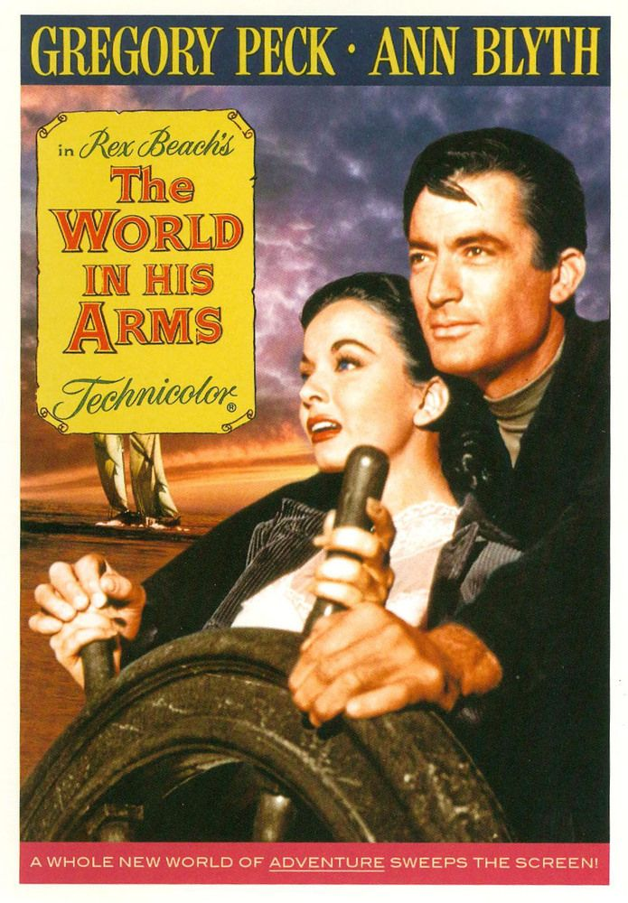 The world in his arms Gregory Peck vintage movie poster