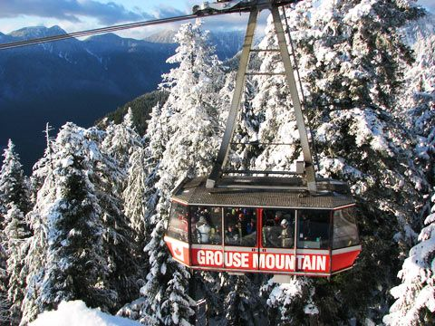 Grouse Mountain Vancouver BC Is A Year Round Vacation Destination And Winter Activities