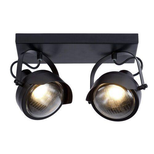 Lucide Cicleta 2 Light Ceiling Spotlight Lucide Colour Black