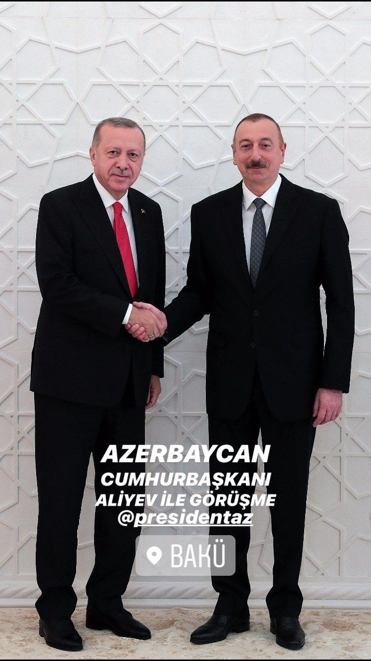 Recep Tayyip Erdogan President Of Turkey And Ilham Aliyev President Of Azerbaijan Ilham Aliyev Tayyip Erdogan Azerbaijan