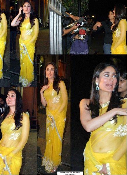 1e834e17b8 Kareena Kapoor Bright Yellow Net Saree. Kareena Kapoor Bright Yellow Net Saree  Bright Net, Bright Yellow, Bollywood Sarees Online,