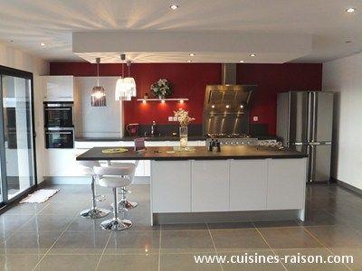 cuisine avec piano de cuisson moderne - Recherche Google | Cuisine ...