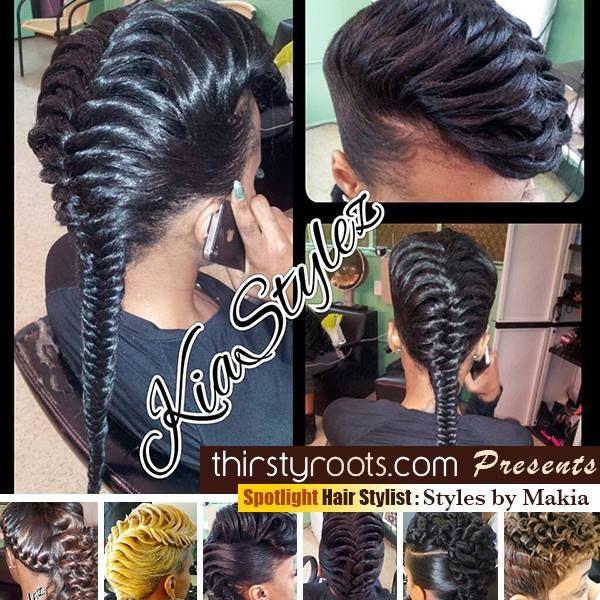 Fishtail Braid Hairstyles For Black Hair Fishtail Braid Hairstyles Natural Hair Styles Hair Styles