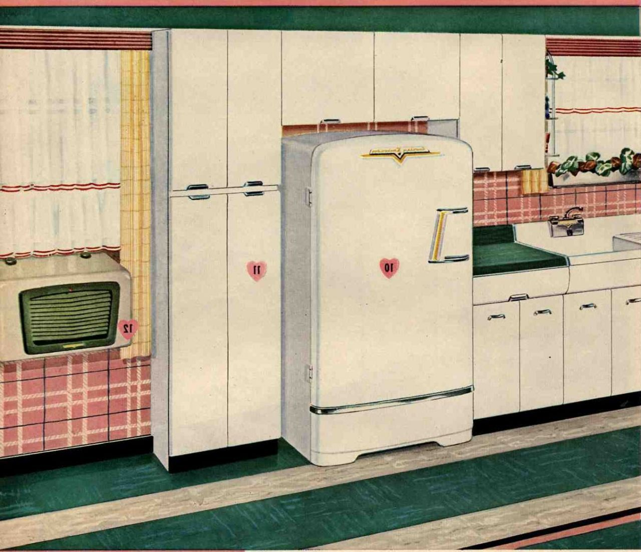 Danas Vintage 1953 Crosley Metal Kitchen Cabinets | my kitchen ...