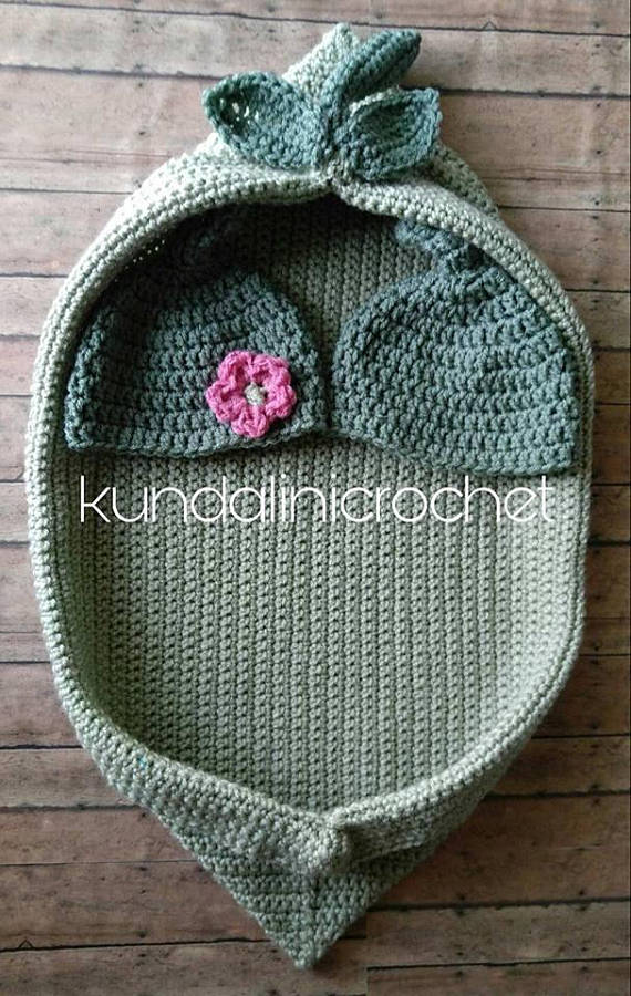 Pea Pod Crochet PATTERN Single Baby and Twin Babies with Picture ...