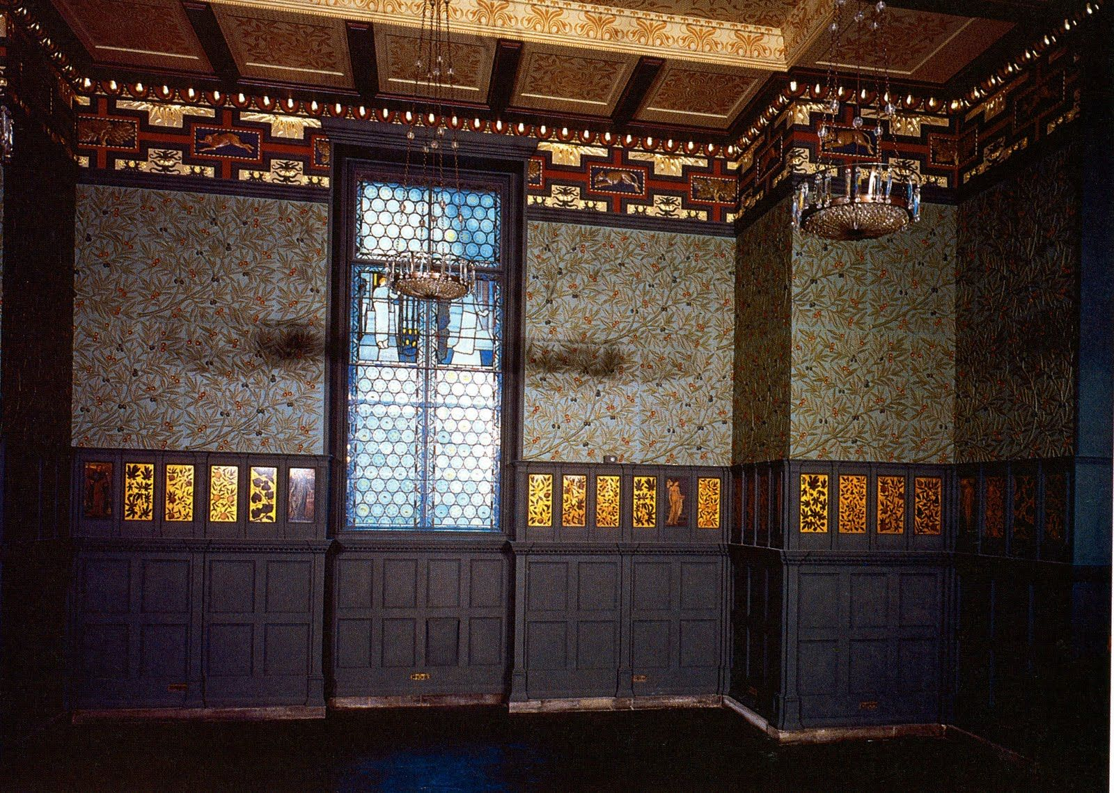william morris, the green dining room, arts and craft movement