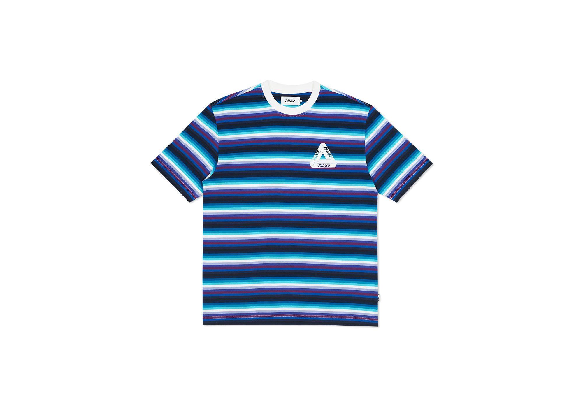 THIN STRIPE T-SHIRT BLUE / PINK | Palace Skateboards