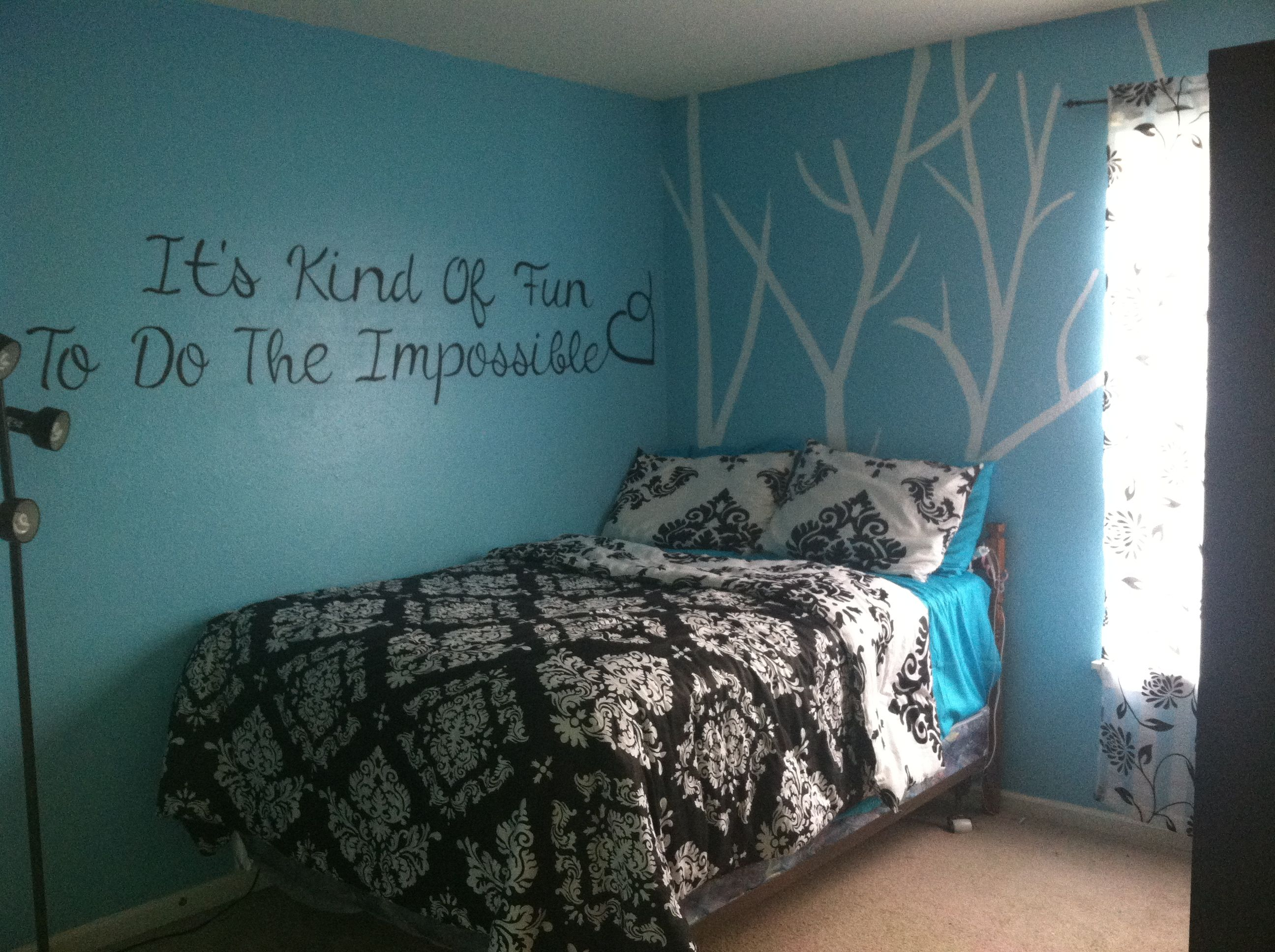 Black and white and teal bedroom - Black And Teal Bedroom