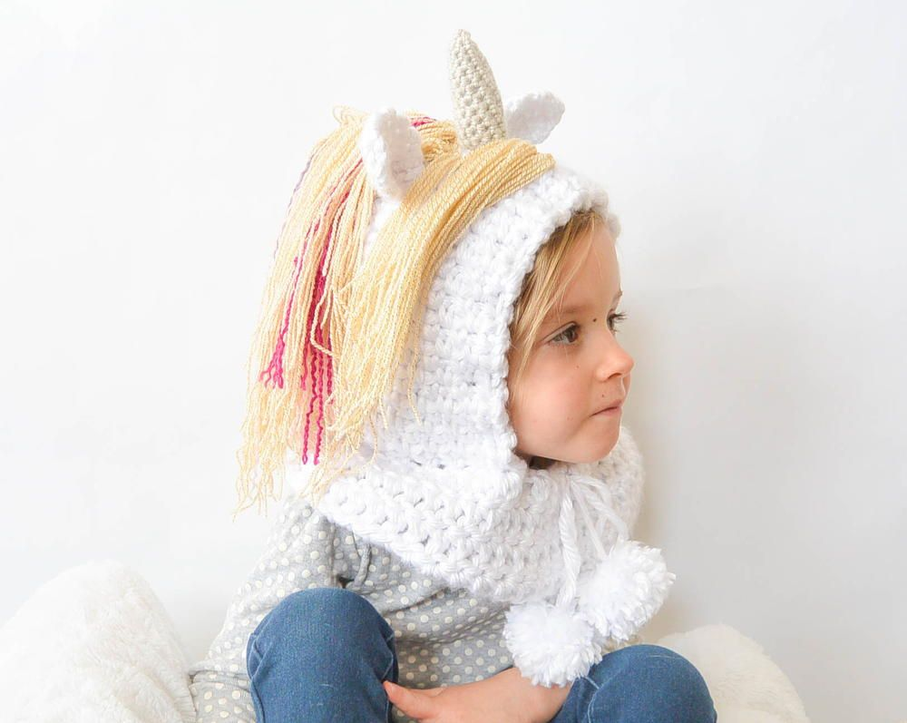 Toddler Unicorn Crochet Hood | Tejido, Ponerse y Coser