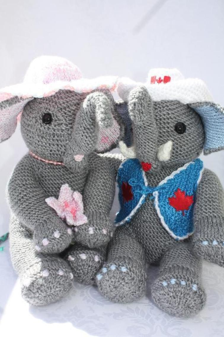 Elle and edward elephant knitting patterns blanket and patterns