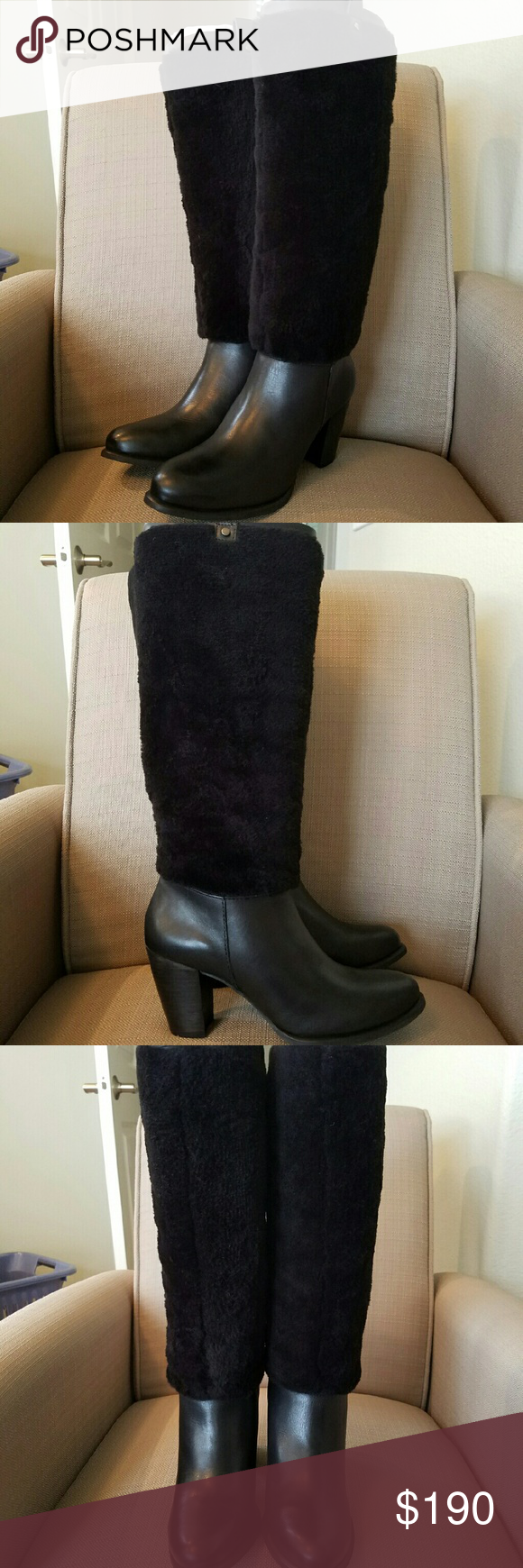 473a35e489 UGG Ava Exposed Fur Boot Women's With its textural mix of plush ...