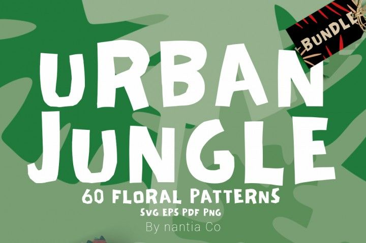 This 60 Urban Jungle Pattern Bundle can be used in blog backgrounds - new jungle powerpoint template