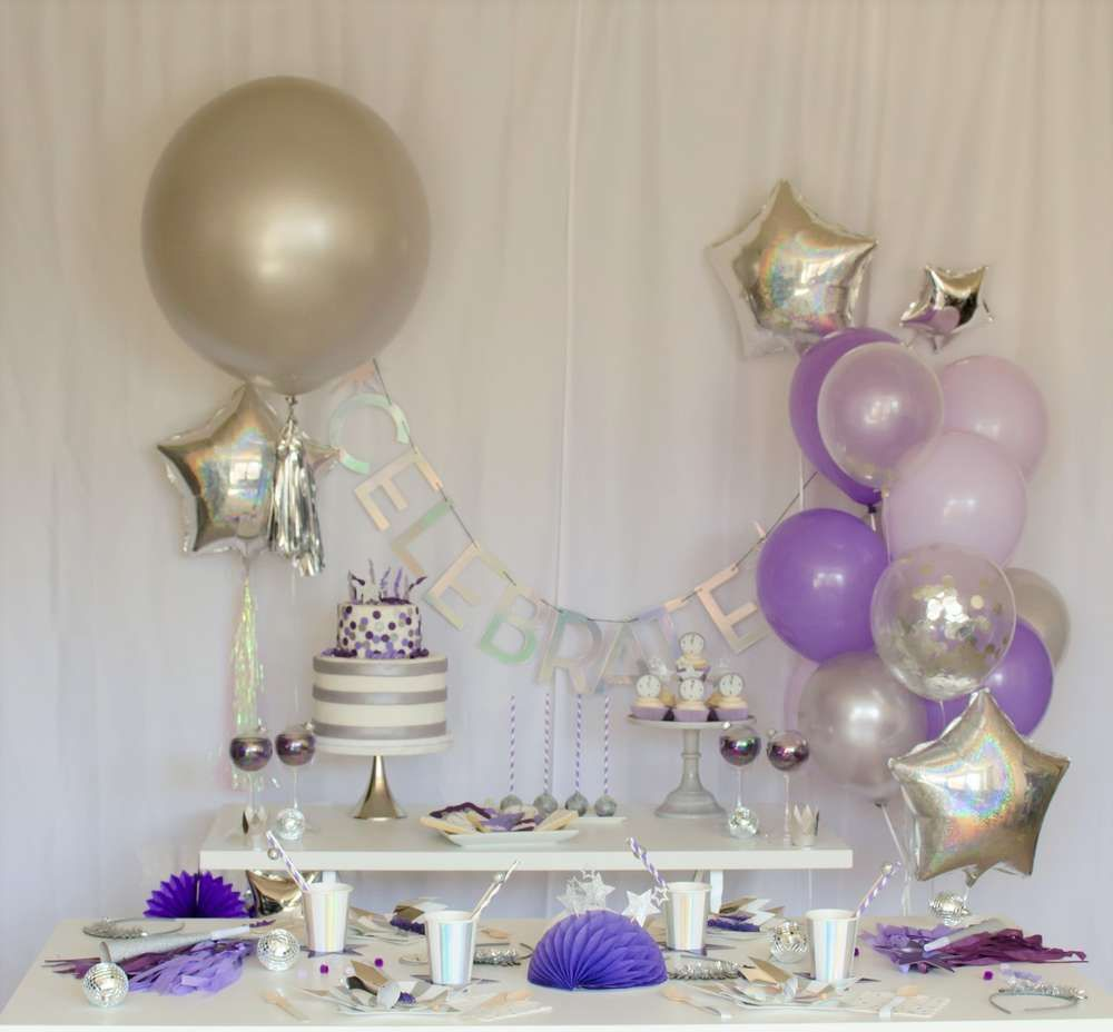 New Years New Year S Party Ideas Photo 1 Of 23 25th Birthday Parties Girl First Birthday Baby Girl First Birthday
