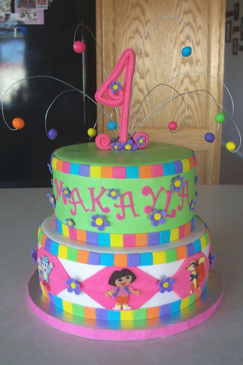 Amazing Dora Cake With Images Birthday Cake Pictures Kids Cake Dora Cake Birthday Cards Printable Benkemecafe Filternl