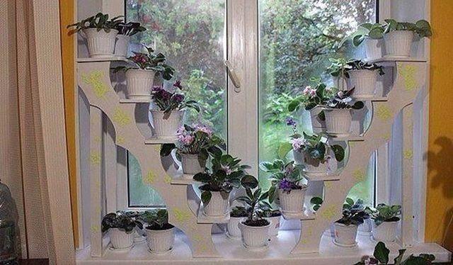 Полка для цветов на окно | Подставки под цветы, Цветы ...