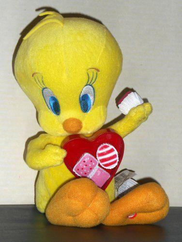 Tweety Valentineu0027s Animated Singing Plush Doll 10 Inch I Want Candy Looney  Tunes Gemmy Warner Bros