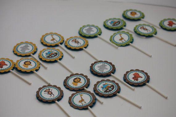 Noahs Ark Custom Cupcake Toppers Birthday by SplendidCelebration, $8.50