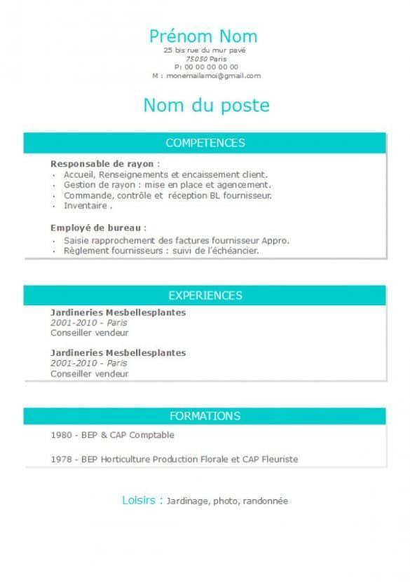Modele De Cv Open Office Archives Modele De Cv Curriculum