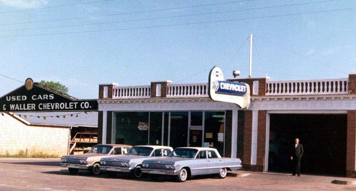 1963 Royall Waller Chevrolet Dealership Malakoff Texas Chevrolet Dealership Chevy Impala Car Dealership