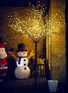 Amazon Com Fashionlite 8ft 600l Led Light Decoration Cherry Blossom Flower Tree Garden Summer Flowering Trees Diy Christmas Lights Christmas Door Decorations