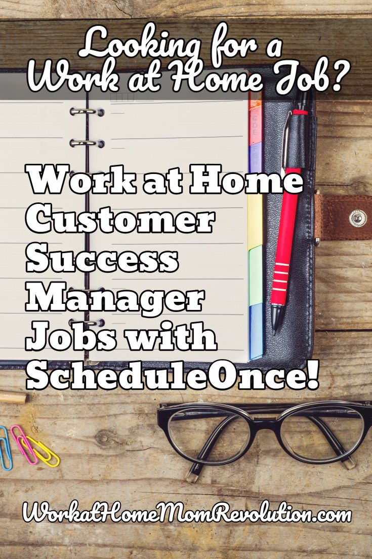 Work at Home Customer Success Manager Job at ScheduleOnce | Success ...