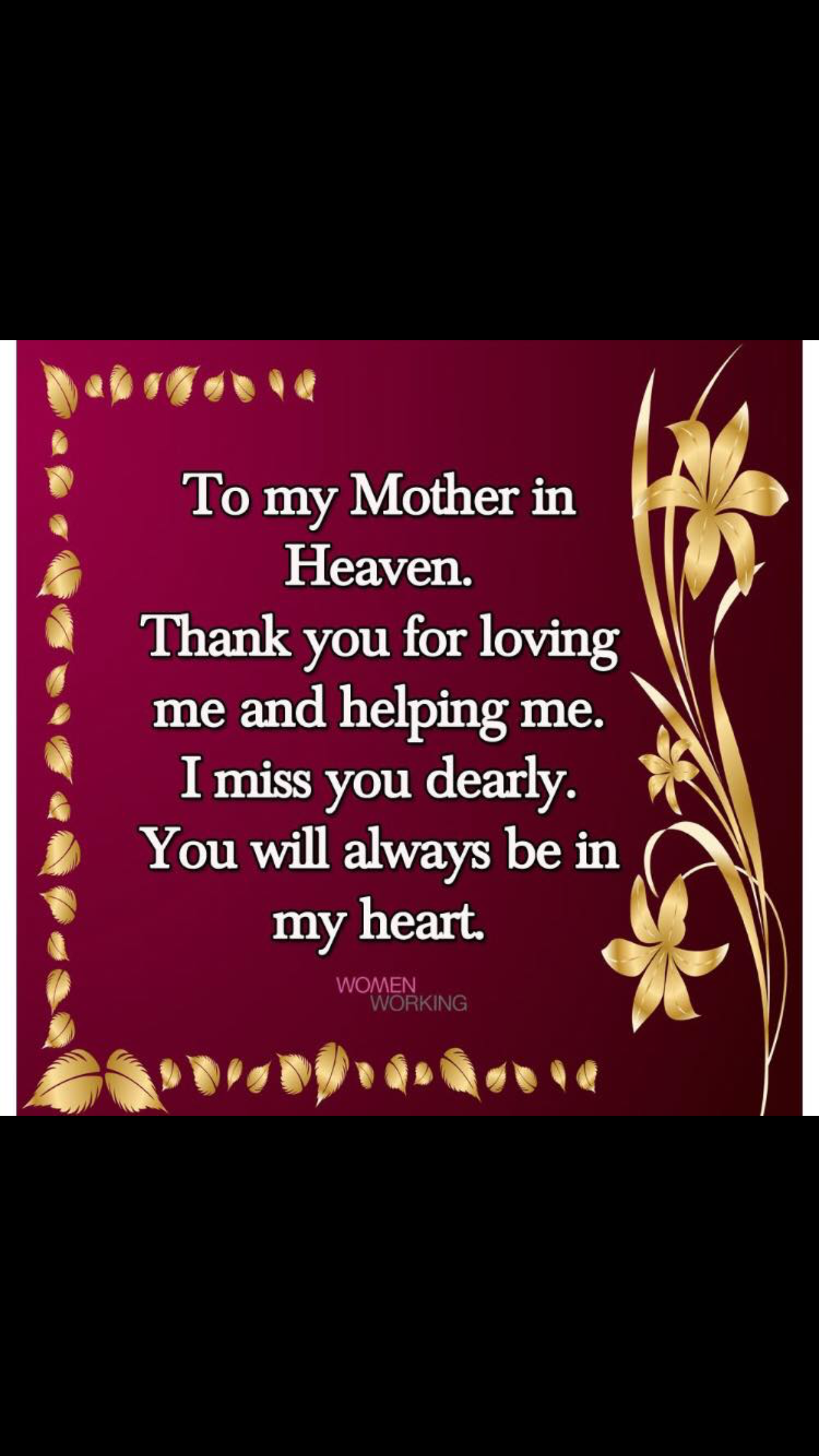 Always Forever Mom In Heaven I Miss My Mom Mom I Miss You
