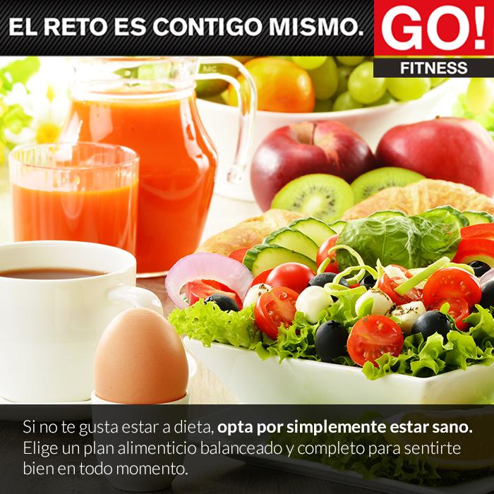 Alimentate sanamente. #gofitness #clasesgo #ejercicio #gym #fit #fuerza #flexibilidad #reto #motivate #alimentación
