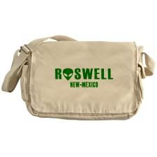 Roswell New-Mexico Messenger Bag #Bag #RoswellNM #Roswell #Alien #Extraterrestrial #UFO #NewMexico
