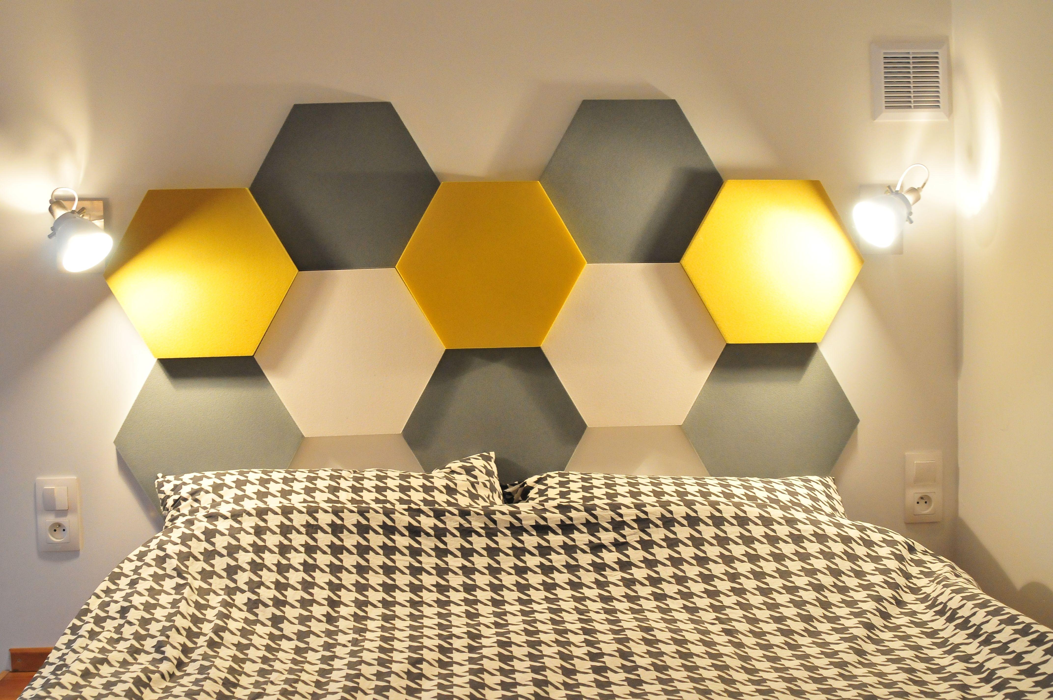 sypialnia z wykorzystaniem miękkich paneli ściennych 3d fluffo