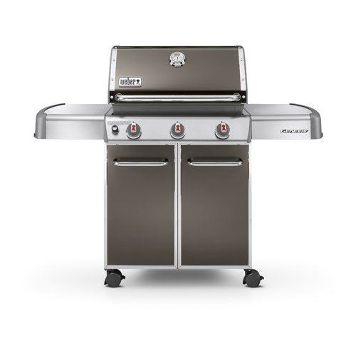 barbecue au gaz weber genesis e310, smoke grey | leroy merlin