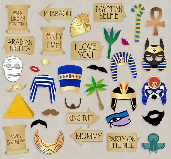 35 Ancient Egyptian Party Props Egypt Party Photo Booth Printables