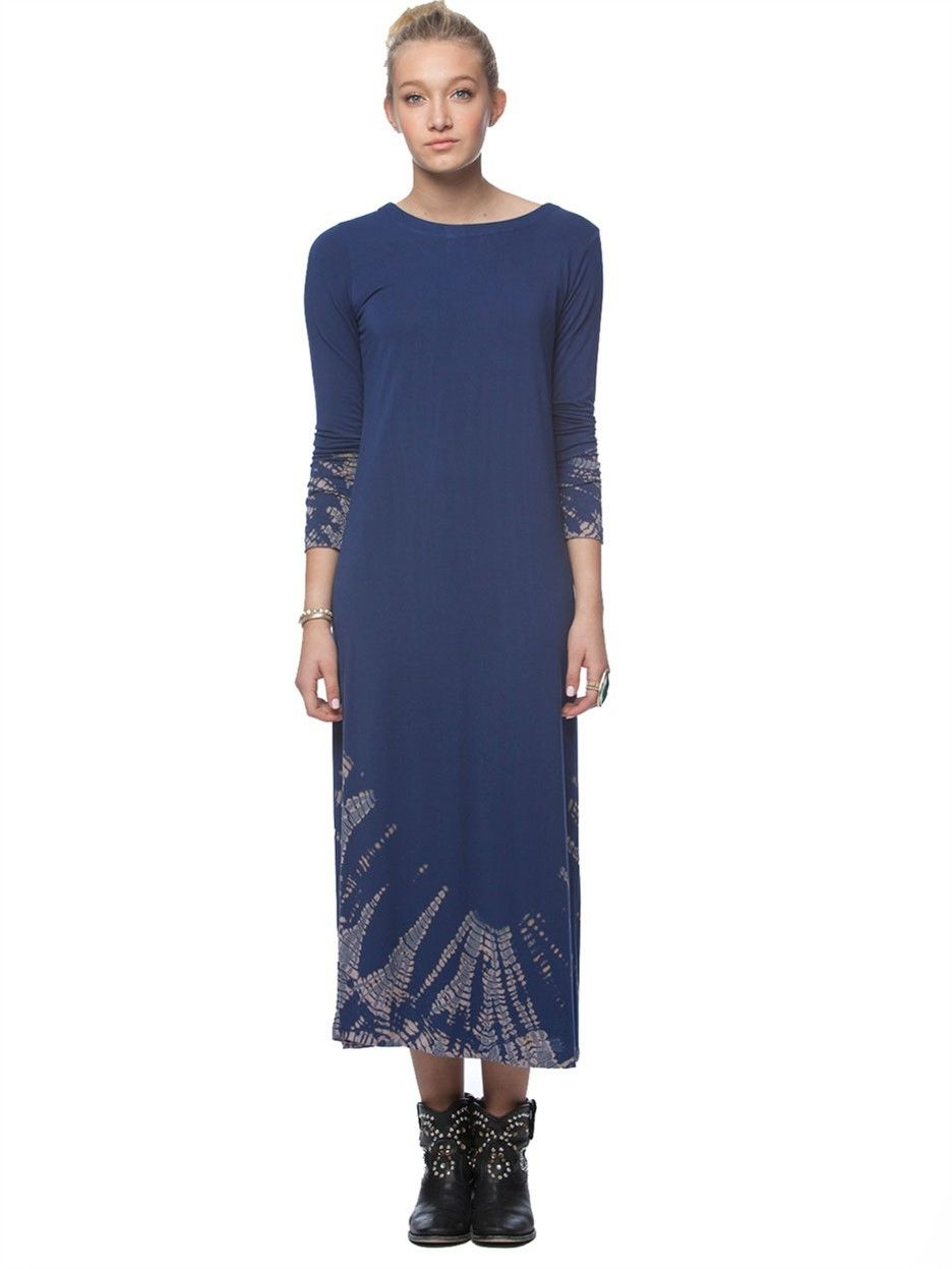 Bamboo long sleeve calf length dress clothing pinterest maxi