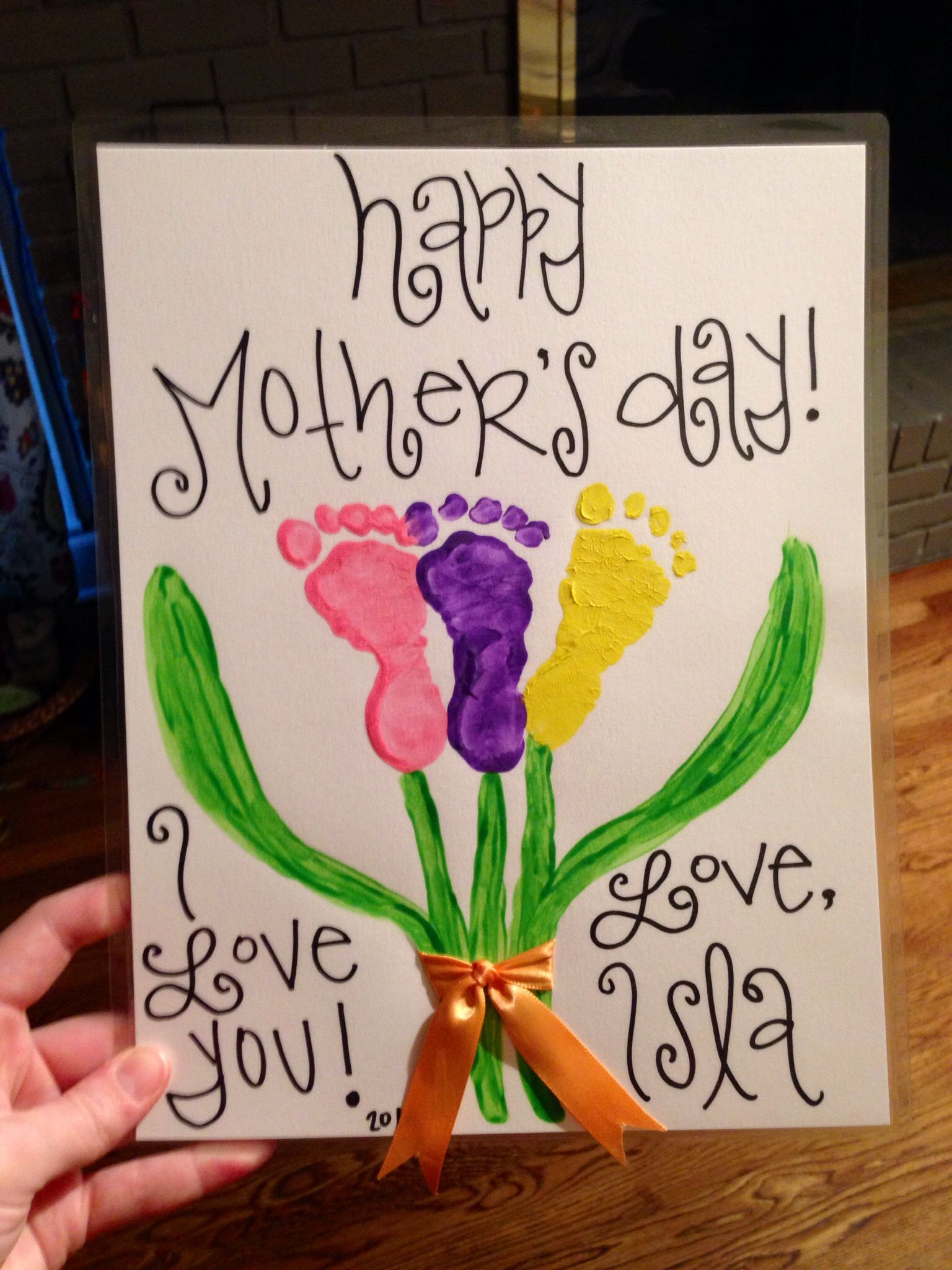 Infant Mother S Day Craft Little Ones Diy Mother S Day Crafts