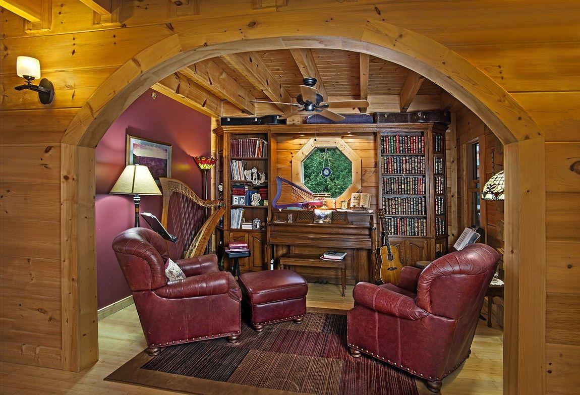 log home music room sq ft efficientr style log home log design coast mountain log homes
