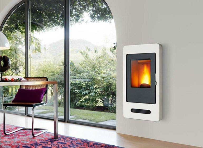 Pellet Stove P938 By Piazzetta Pellet Stove Wood Stove Fireplace Modern Fireplace