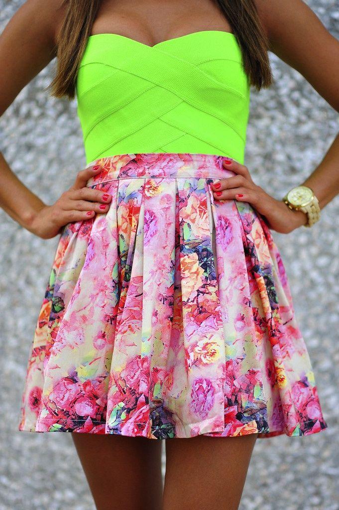 Blair Waldorf Skirt: Blush/Multi