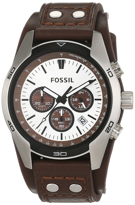 Montre Pour Homme Fossil Bracelet En Cuir Marron Qui Mesure 22mm De Large Son Cadran Est En Acier Inoxyda En 2020 Montre Homme Cuir Montre Fossil Homme Bracelet Cuir