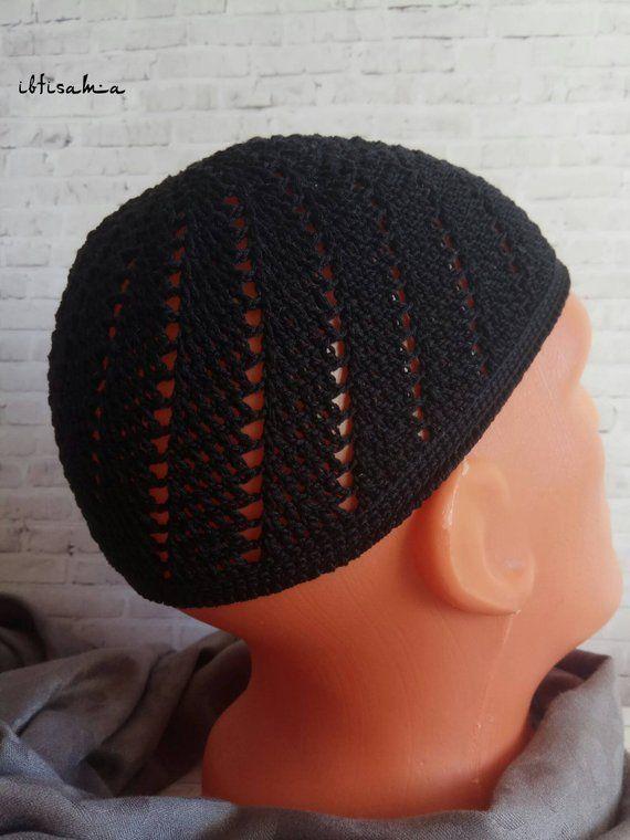 4cb7206a7a657 African hat Kufi hat men Kufi Kufi hat Crochet Kufi Men s hat Islamic hat  Prayer hat Muslim hat Cott