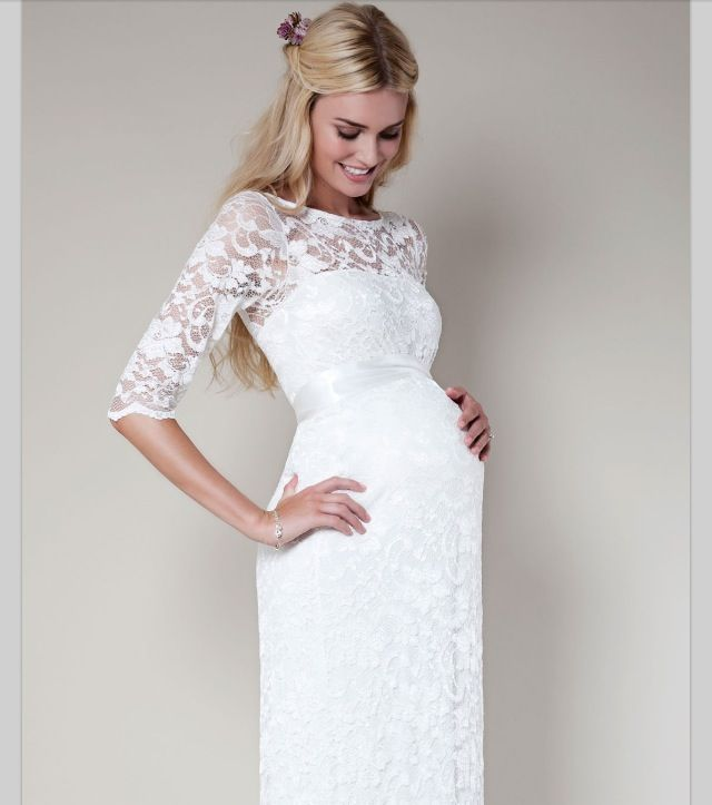 Babyshower · Dress White Preggo